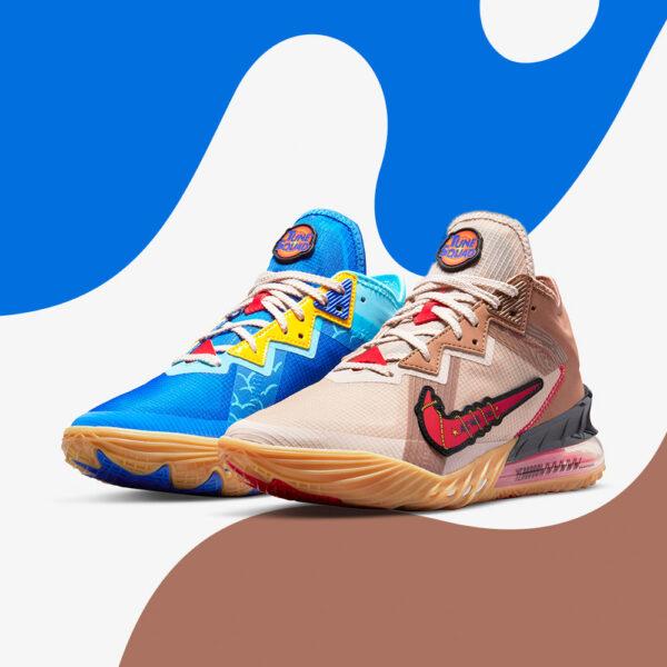 Nike Lebron 18 Low Wile E vs Roadrunner Space Jam CV7562-401